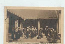 CULAOGIEN (Cambodge) : Le Battage Du Riz Par Les Orphelines De La  Mission De Pnom-Penh En 1925  (animé) PF. - Cambodia