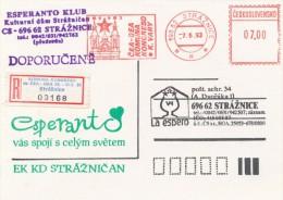 Czech Rep. / Occasional R- Label (1993/01) Straznice: Joint Congress Of The Czech & German Esperanto Association (I8503) - Esperanto