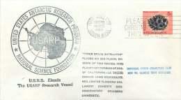 1970  United States Antarctic Research Program  USNS Eltanin  Souvenir Cover - Australian Antarctic Territory (AAT)