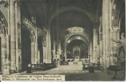 Milaan Milan 1931 Binnenzicht Van Sint Ambrosiuskerk (uitgave V.K.A.J. Poststraat Brussel ) - Italië