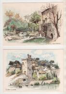 ROBERT LEPINE PEINTRE FRANCAIS - LOT DE 9 CARTES ( BONNIEUX, MOULIN (2), PONT LOROIS, TROMOEN, VILLENEUVE LES AVIGNON... - Cartoline