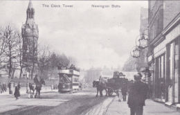 NEWINGTON BUTTS - THE CLOCK TOWER.1906  REPRINT - London Suburbs