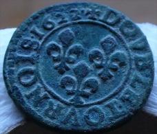 DOUBLE TOURNOIS LOUIS XIII 1622 G POITIERS TTB A TB   A VOIR !! - 1610-1643 Lodewijk XIII Van Frankrijk (De Rechtvaardige)