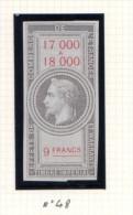 Fiscal, Fiscaux,Effet De Commerce, émission De 1864,type Napoléon III Lauré, N° 48 Neuf - Fiscaux