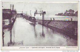 CHOISY LE ROI - 94 - Crue Inondations De La Seine 1910 - Entrée De La Gare - Choisy Le Roi