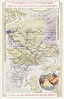 CPA - Carte du Pays - ( Carte Pub. des Chocolateries d�Aiguebelle )
