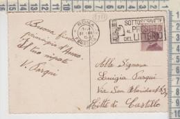Regno 31/12/1926 Francobollo Cent. 20 Timbro A Targhetta Prestito Del Littorio Per Città Di Castello Perugia - 1900-44 Victor Emmanuel III