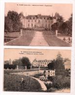 PLESSÉ - Lot De 2 CP - Chateau De Carheil - Façade Nord (Chapeau N°51) & L'Entrée (lo Mile N°70) - 2 Scans - France