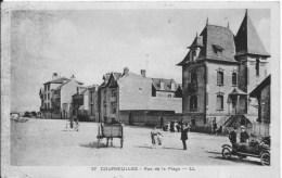 COURSEULLES : Rue De La Plage - CPA Postée Vers 1935 - Animée - Courseulles-sur-Mer