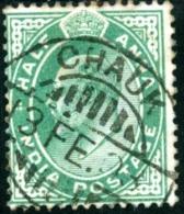 INDIA, COLONIA BRITANNICA, BRITISH  COLONY,  RE EDOARDO VII, KING EDWARD VII, 1902, USATO, Scott 61 - India (...-1947)