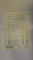 14T - Papeterie Cartes Postales Maurice Fontaine Bougnies Lez Mons 1956 - Printing & Stationeries