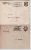2 L.petit Sceau De L'Etat Entête Conférence Du Jeune Barreau & Fédération Des Avocats Belges C.Bruxelles En 1940 PR1340 - Métiers