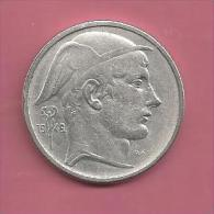 Belgique - 1949 - 50 Francs - Mercure - Argent Cuivre - Version FR - 1945-1951: Régence