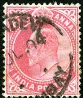 INDIA, COLONIA BRITANNICA, BRITISH COLONY, RE EDOARDO VII, KING EDWARD VII, 1902,  USATO, Scott 62, YT 59 - India (...-1947)