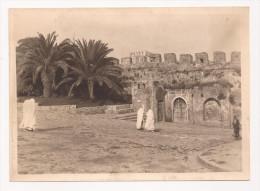 Photo Originale 180 Mm X 130 Mm - Années 50 - Tanger Maroc - Remparts De La Kasbah - Scan R/V - - Lieux
