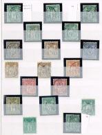 GF1-s�rie type sage compl�te y compris N�62 et 76  timbres choisis sans d�faut et centr�s cote environ 1700 euros