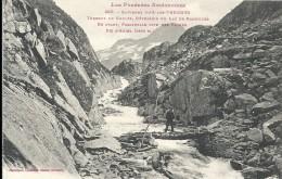 """Ariège : Ax Les Thermes, Torrent De Gnoles, Passerelle Dite """"Des Vaches"""" - Ax Les Thermes"""
