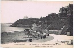 Cpa DINARD La Pointe Du Moulinet Et La Digue (en Toile De Fond Embarcadere Pour St Malo) - Dinard