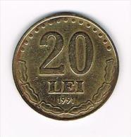 ROEMENIE  20  LEI  1991 - Roumanie