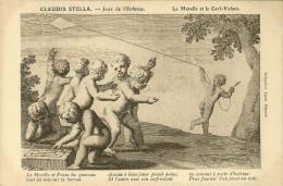 CPA - LES JEUX DE L ENFANCE - CLAUDIA STELLA - LA MARELLE ET LE CERF VOLANT- TTBE - Games & Toys