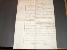 COPIE ACTE Notaire Longfils Fontaine L'Eveque -famille Cambier - Daté Du 26/1/1870 - Documents Historiques