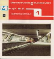 METRO DE BRUXELLES - BRUSSELSE METRO - HERRMANN-DEBROUX - Ligne - Lijn 1 (dépliant Bilingue N°50) - Unclassified