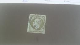 LOT 231551 TIMBRE DE FRANCE OBLITERE N�11 VALEUR 100 EUROS