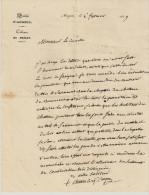 ANGERS EVECHE CABINET DU PRELAT COURRIER DE M CHASSES A MR LE COMTE LE 6 FEVRIER 1839 LETTRE DOUBLE EN BON ETAT - Historical Documents