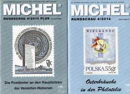MICHEL Briefmarken Rundschau 4/2014 Sowie 4/2014 Plus Neu 11€ New Stamps Of The World Catalogue And Magacine Of Germany - Télécartes