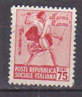 PGL CB161 - ITALIA RSI SASSONE N°499 ** - 4. 1944-45 Social Republic