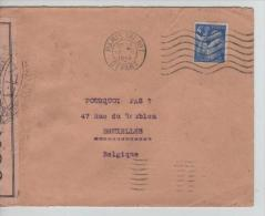 TP Marianne Iris S/L.c.Paris Tri N°1 En 1945 Censurée V.Belgique PR1353 - France