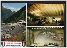 404 Peugeot -D S Citroen-dauphine Etc -multi Vues -tunnel Du Mont Blan -savoie- - Turismo