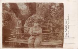 CP Photo 14-18 DOUCHY-LES-AYETTE (près Croisilles) - Un Soldat Allemand + Dos Cpa Paysage (A87, Ww1, Wk1) - Unclassified