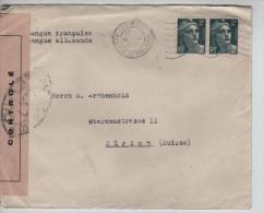 TP Marianne De Gandon S/L. C.Paris En 1945 Censurée Par Les Autorités De Contrôle LYY V.Belgique PR1354 - France