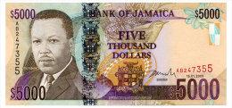 JAMAICA 5000 DOLLARS 2009 Pick 87a Unc - Jamaica