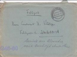 Feldpost WW2: Returned - Wait For New Address - Zurück An Absender Neue Anschrift Abwarten Originally Adressed To Juchno - Militares