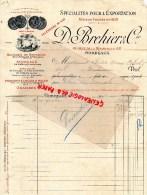 33 - BORDEAUX - D. BREHIER 60 RUE DE LA ROUSSELLE- BEURRE BRETAGNE DE LA PREVALAYE PATISSERIE-1902 - France