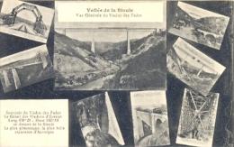CPA VALLEE DE LA SIOULE - VUE GENERALE DU VIADUC DES FADES - DIVERSES VUES - France