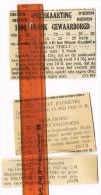 Tielt: Aankondigingen In De 'Gazette Van Thielt' ( 1922/1926/1927) - Documentos Históricos