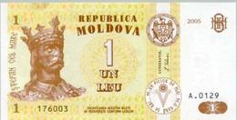 Moldova 1 Leu  2005  Pick 8 UNC - Moldova