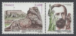 France, Lion Of Belfort Statue, F. A. Bartholdi, 2012, MNH VF - Nuevos
