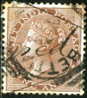 INDIA, COLONIA BRITANNICA, BRITISH COLONY, REGINA VITTORIA, QUEEN VICTORIA, SERVICE, 1856,  USATO, Scott 12, YT 11 - 1852 Sind Province