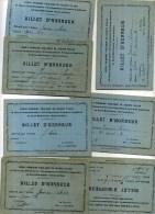 - FRANCE 1935/36 . LOT 7 DE BONS POINTS . ECOLE PUBLIQUE DE RUEIL MALMAISON . - Diploma & School Reports