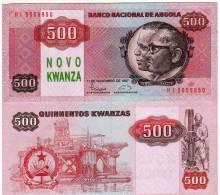 ANGOLA NOTE 500 NOVO KWANZA 1987 PICK 123 UNC - Angola