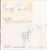 AUTOGRAFO CALCIATORI CAGLIARI CALCIO PANCARO E MINOTTI CAMPIONATO A 1996-97 - Autographs