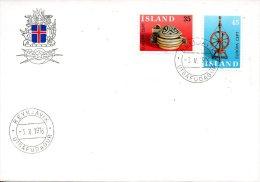 ISLANDE. N°467-8 De 1976 Sur Enveloppe 1er Jour (FDC). Oeuvres Artisanales. - Europa-CEPT