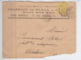 Sage Paris Enveloppe  De  Chaffiot, Chapeaux De Paille, Voir état - 1876-1898 Sage (Type II)