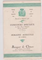 Menu : Orne :  L   AIGLE   , Concours  Spéciaux , Banquet De  Cloture  , 1931, Hôtel Du Dauphin , Mr  Bernard - Menus