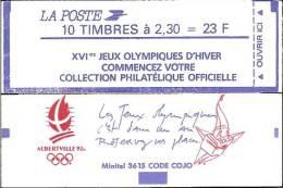 """CARNET 2614-C 10a Marianne De Briat  Fermé """"XVI JEUX OLYMPIQUES D´HIVER"""" Sans Le N° De Confectionneuse TRES RARE - Carnets"""
