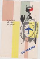 Menu :  AIR  FRANCE   Avion :  Départ Du 16 Mars 1961 Ligne : Paris - Stockholm - Menus